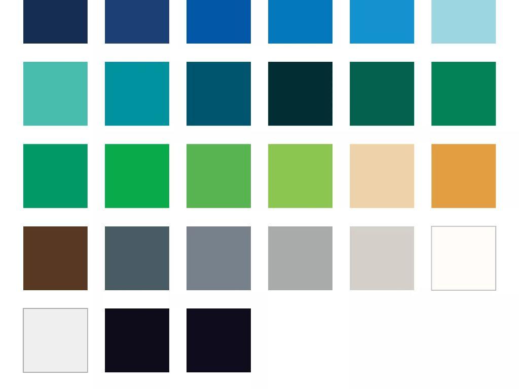Paleta barv za folije